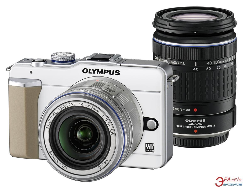Цифровой фотоаппарат Olympus E-PL1 DZK 14-42mm + 40-150mm + чехол CS-17B + ремень CSS-109LL Champagne/Silver (N3845192)