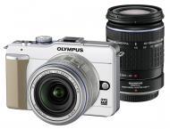 �������� ����������� Olympus E-PL1 DZK 14-42mm + 40-150mm + ����� CS-17B + ������ CSS-109LL Champagne/Silver (N3845192)
