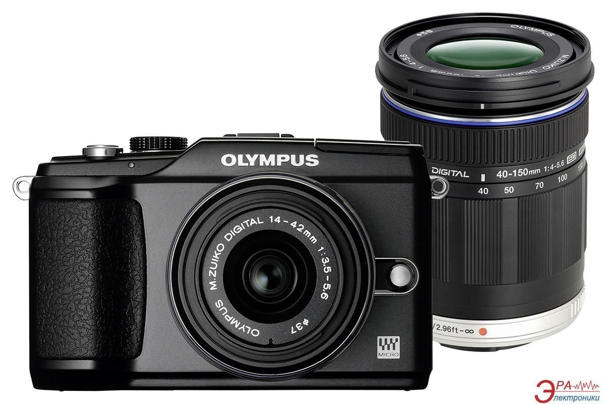 Цифровой фотоаппарат Olympus E-PL2 DZK 14-42mm + 40-150mm Black (N4288692)
