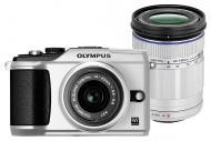Цифровой фотоаппарат Olympus E-PL2 DZK 14-42mm + 40-150mm Silver (N4288492)