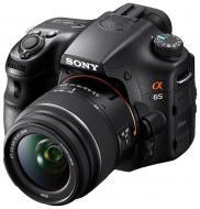 Зеркальная фотокамера Sony Alpha SLT-A65V + объектив 18-55 + 55-200 KIT (SLTA65VY.CEE2) Black