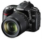 Зеркальная фотокамера Nikon D90 KIT 18-105mm VR (VBA230K001) Black