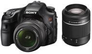 Зеркальная фотокамера Sony Alpha A57 + объектив 18-55 + 55-200 KIT SLT-A57Y Black