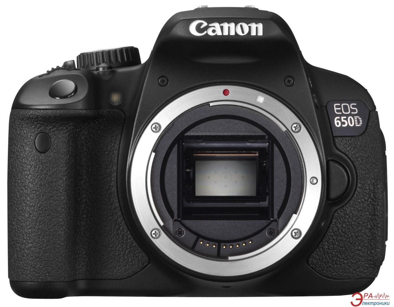Зеркальная фотокамера Canon EOS 650D Body (6559B028) Black