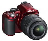 Зеркальная фотокамера Nikon D3100 Kit 18-55 VR (VBA281K001) Red