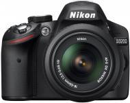 Зеркальная фотокамера Nikon D3200 KIT 18-55 VR + SLR Shoulder Bag (VBA330KR02) Black