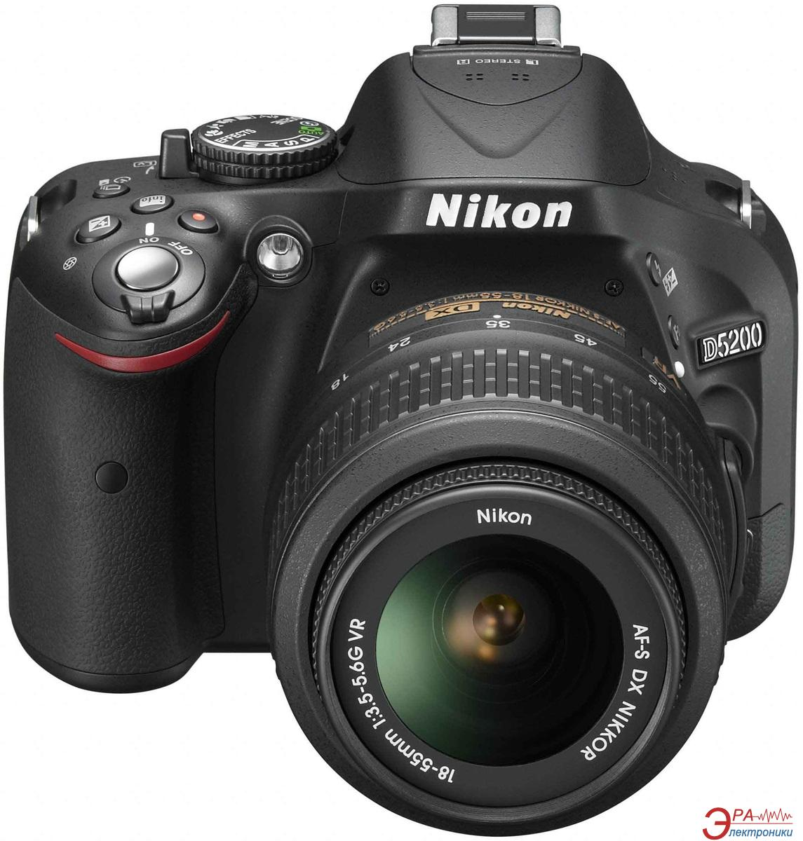 Зеркальная фотокамера Nikon D5200 kit AF-S DX 18-55mm f/3.5-5.6G VR (VBA350K001) Black