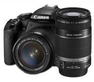 Зеркальная фотокамера Canon EOS 650D + объектив 18-55 IS II + объектив 55-250 IS II (6559B022) Black