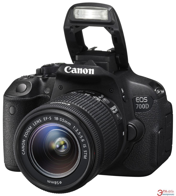 Зеркальная фотокамера Canon EOS 700D + объектив 18-55 IS STM (8596B031) Black