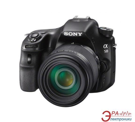 Зеркальная фотокамера Sony Alpha A58 + объектив 18-135 KIT (SLTA58M.CEC) Black