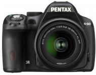 Зеркальная фотокамера Pentax K-50 + DA L 18-55 WR (10893) Black