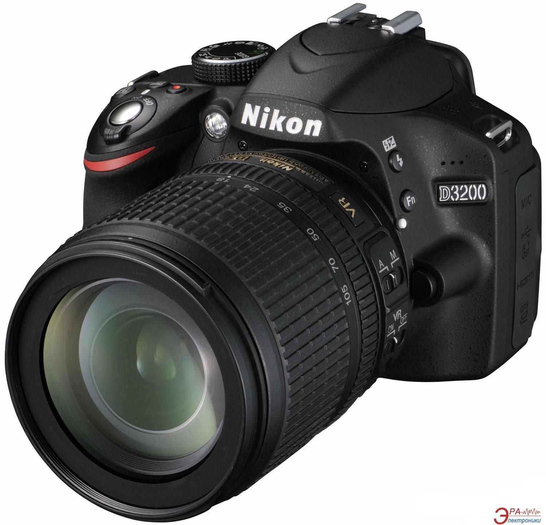 Зеркальная фотокамера Nikon D3200 KIT + 18-105 VR (VBA330KV01) Black