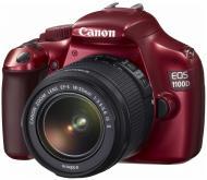 Зеркальная фотокамера Canon EOS 1100D + объектив 18-55 IS II Kit (5162B017) Red
