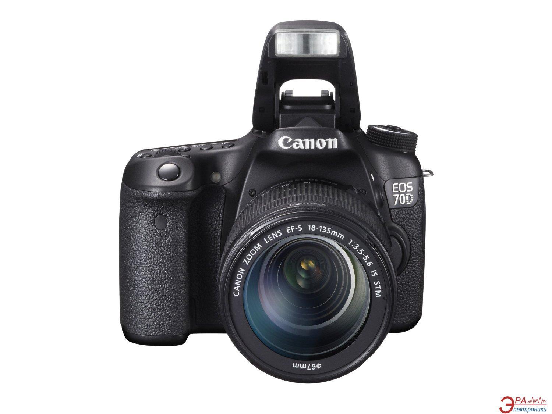 Зеркальная фотокамера Canon EOS 70D 18-135 IS WiFi (8469B042) Black