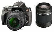 Зеркальная фотокамера Sony Alpha A230 + объективы 18-55 + 55-200 KIT (DSLR-A230Y) Black