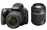 Зеркальная фотокамера Sony Alpha A33 + объективы 18-55 + 55-200 KIT (SLTA33Y.CEE2) Black