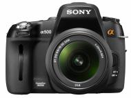 Зеркальная фотокамера Sony Alpha A500 + объектив 18-55 KIT (DSLR-A500L) Black