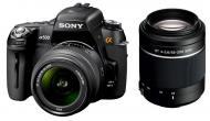 Зеркальная фотокамера Sony Alpha A500 + объективы 18-55 + 55-200 KIT (DSLR-A500Y) Black