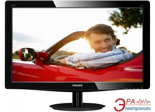 Монитор 18.5  Philips 196V3LSB25/62 Slim Black