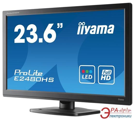Монитор 23.6  Iiyama ProLite E2480HS-B1 (E2480HS-B1)