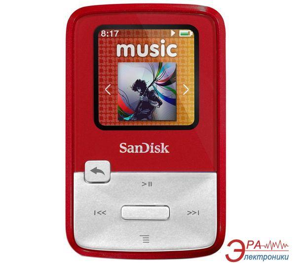 MP3 плеер SanDisk Sansa Clip Zip 4 Gb Red (SDMX22-004G-E46R)