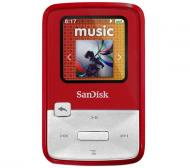 MP3 ����� SanDisk Sansa Clip Zip 4 Gb Red (SDMX22-004G-E46R)