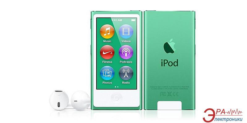 MP3-MP4 плеер Apple A1446 iPod nano (7Gen) 16 Gb Green (MD478QB/A)