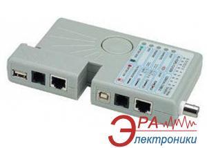 Тестер кабельный EvroMedia RX-1000 (RJ-45, RJ-12, USB, BNC)