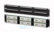 Патч-панель Nets 24xRJ45 UTP Cat 5E Dual IDC 19 1U Black (NETS-PP-KUTP48-1U)