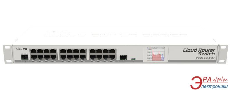 Маршрутизатор Mikrotik CRS125-24G-1S-RM