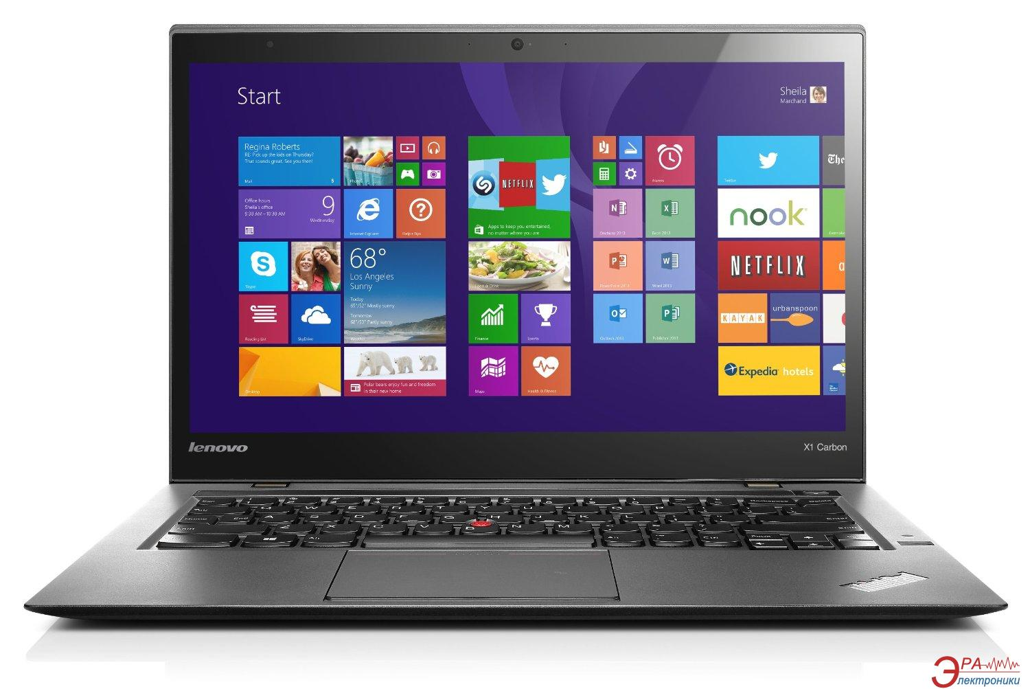 Ноутбук Lenovo ThinkPad X1 Carbon (20BSS01F00) Black 14