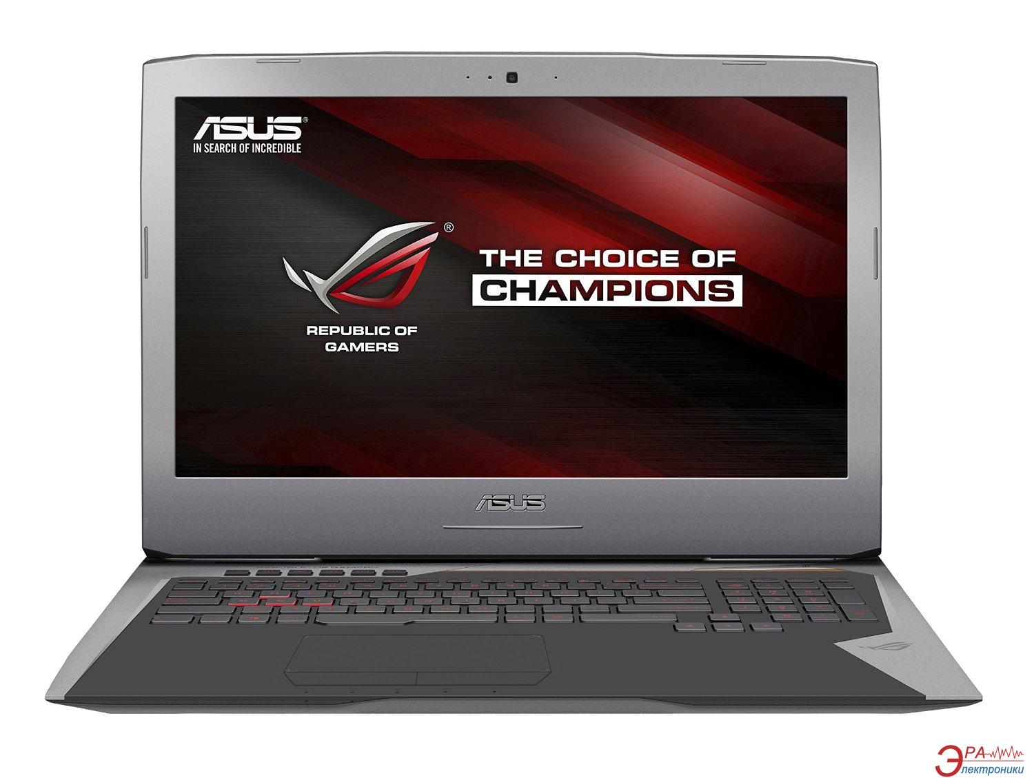 Ноутбук Asus G752VY (G752VY-GC190T) Grey 17,3