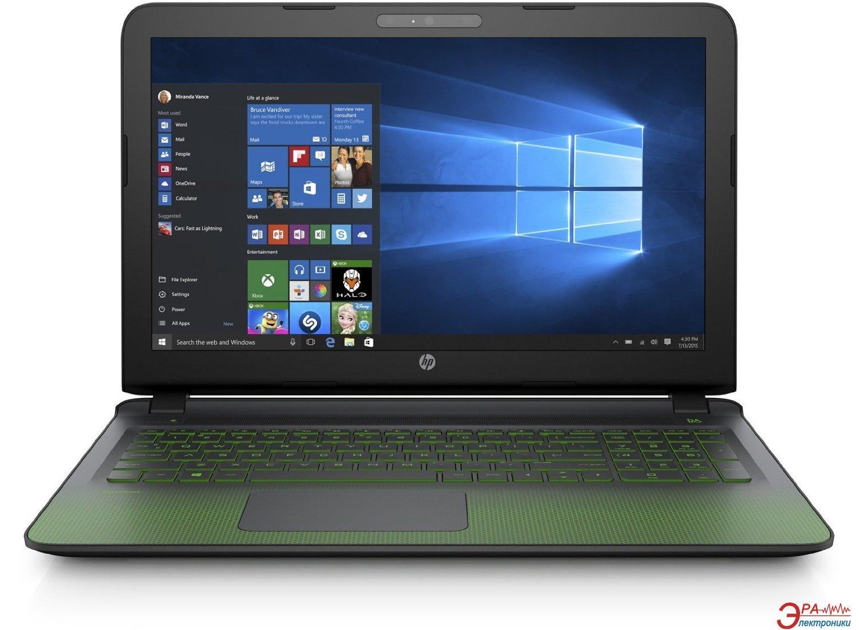 Ноутбук HP Pavilion Gaming — 15-ak194ur (P3M05EA) Black Green 15,6