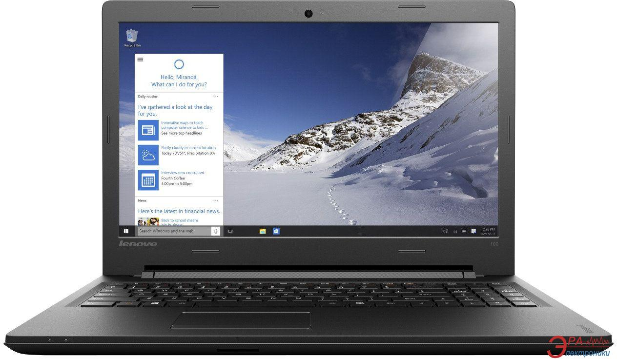 Ноутбук Lenovo IdeaPad 100 (80QQ00LTUA) Black 15,6