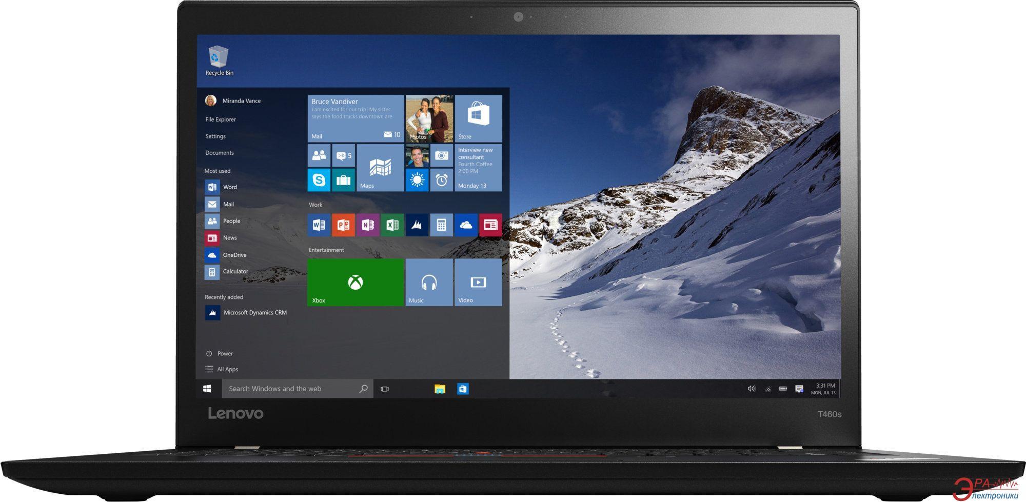 Ноутбук Lenovo ThinkPad T460s (20F90045RT) Black 14