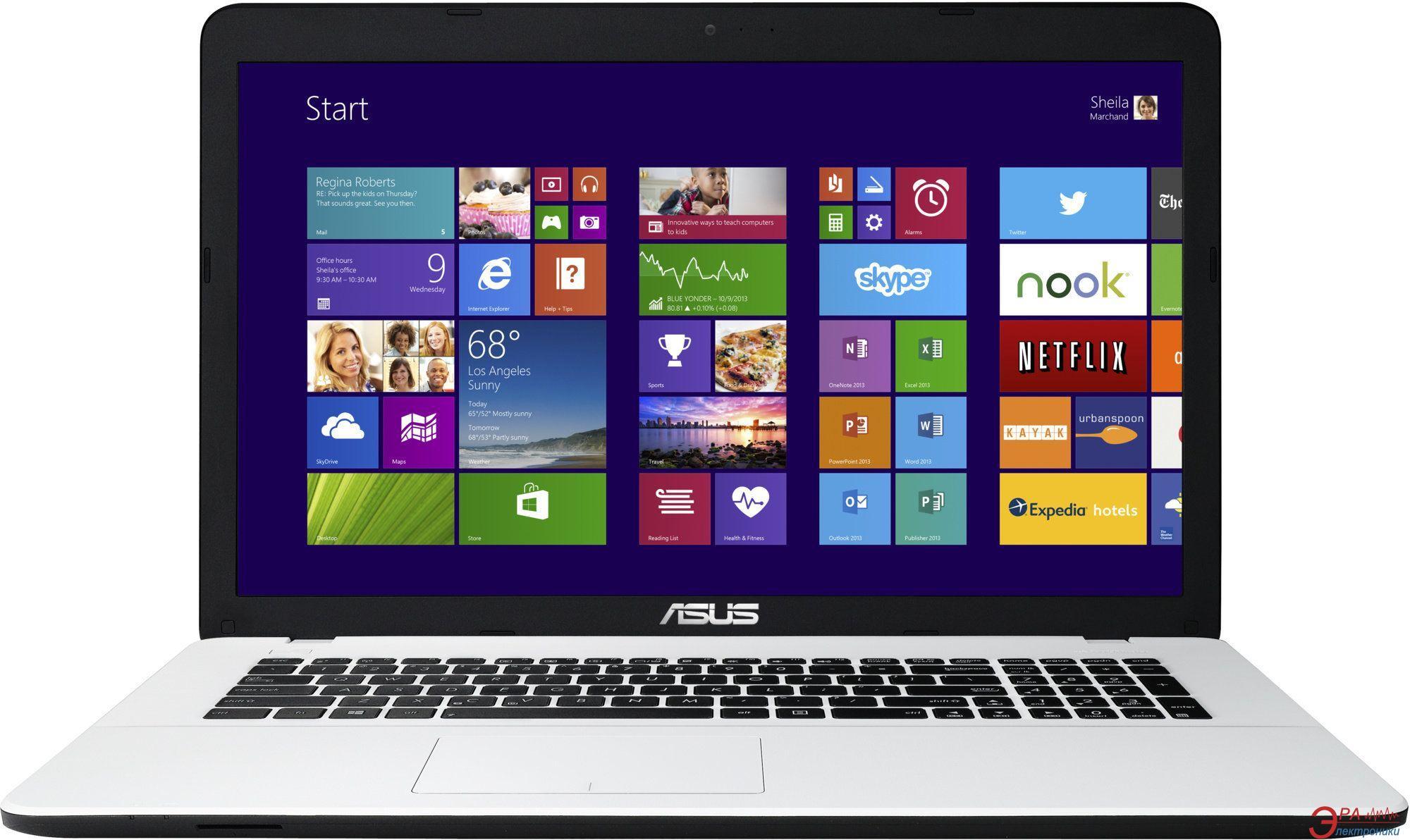 Ноутбук Asus X751SA-TY095D (90NB07M2-M02270) White 17,3