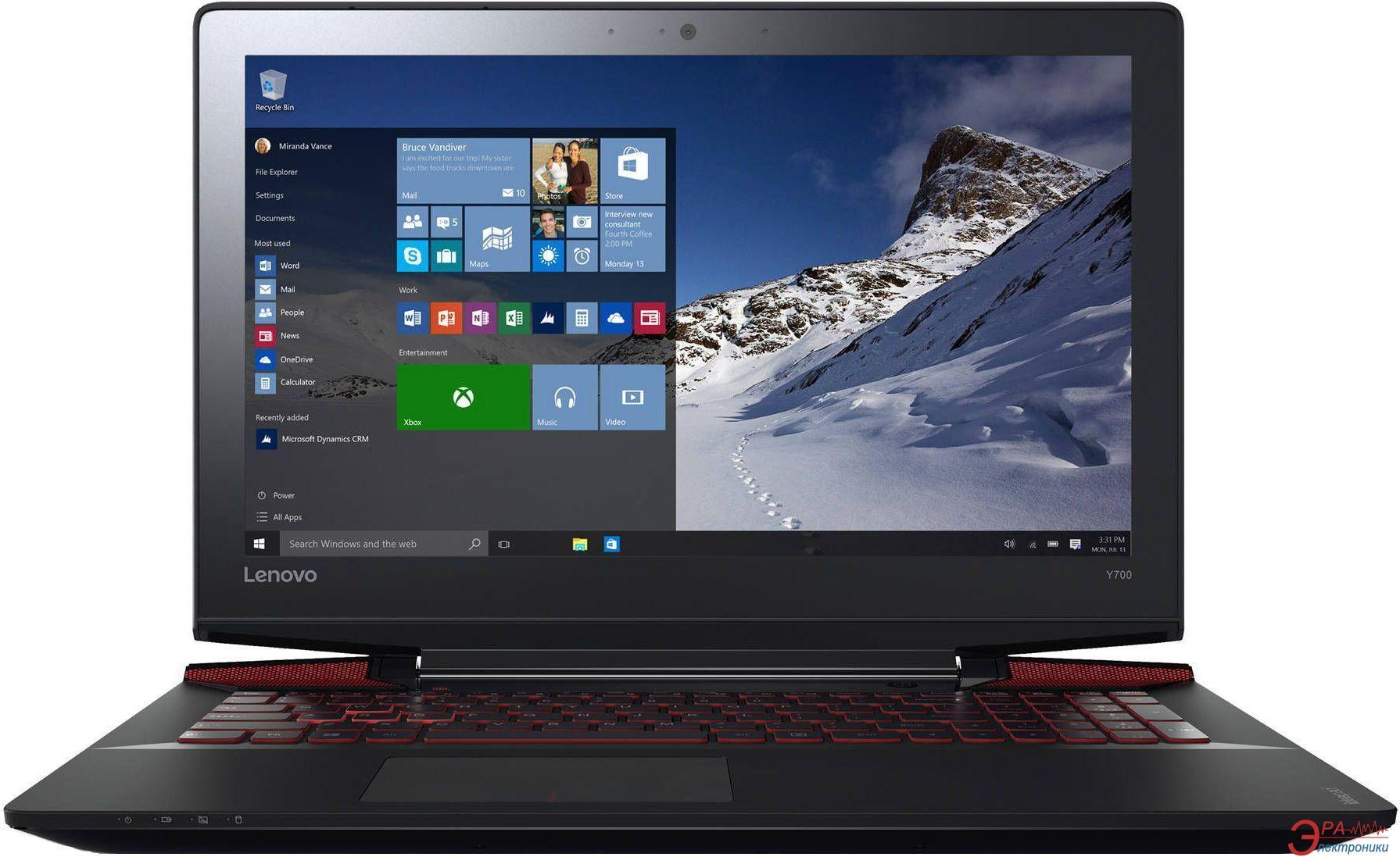 Ноутбук Lenovo Y700-15 (80NV00Y2RA) Black 15,6