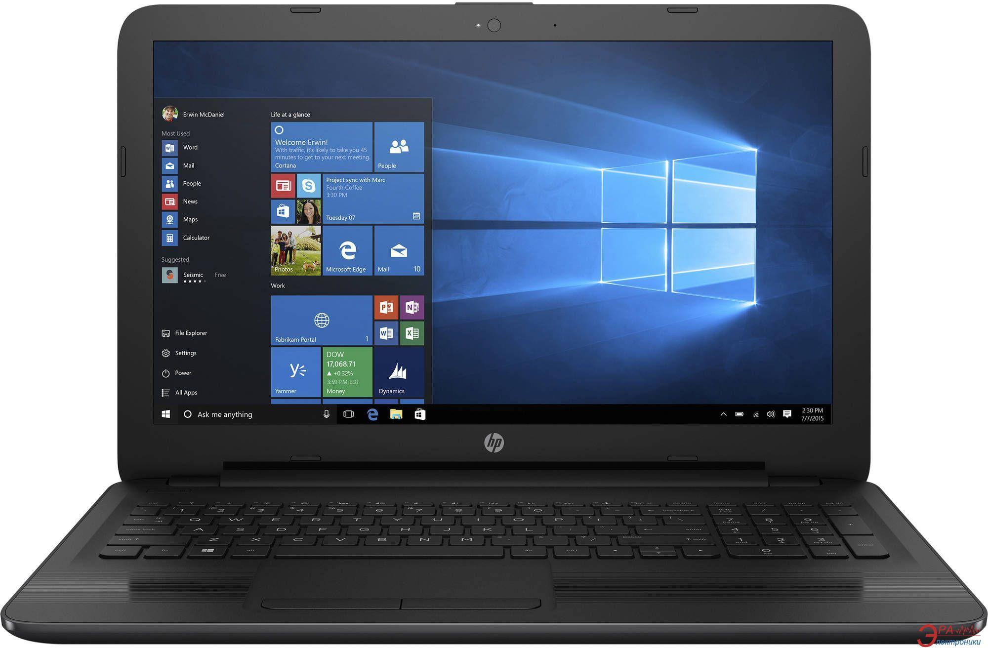 Ноутбук HP 15-ay088ur (Y0A09EA) Black 15,6