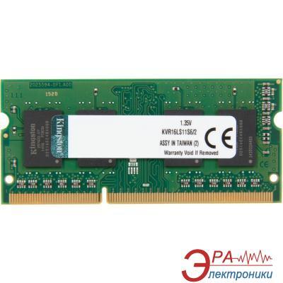 Оперативная память SO-DIMM DDR3 2 Gb 1600 МГц Kingston (KVR16LS11S6/2BK)