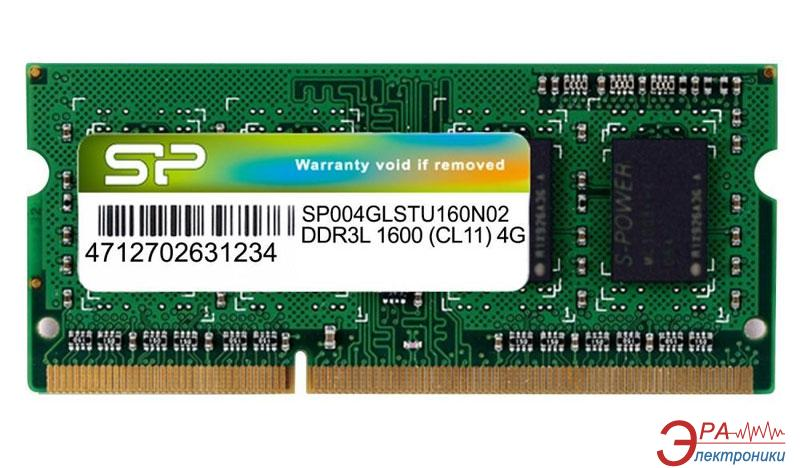 Оперативная память SO-DIMM DDR3 4 Gb 1600 МГц Silicon Power (SP004GLSTU160N02)