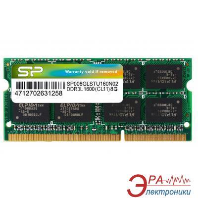 Оперативная память SO-DIMM DDR3 8 Gb 1600 МГц Silicon Power (SP008GLSTU160N02)