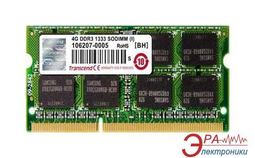 Оперативная память SO-DIMM DDR3 4 Gb 1333 МГц Transcend (TS512MSK64V3N)