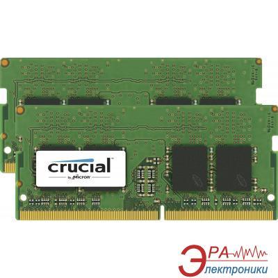 Оперативная память SO-DIMM DDR4 2*8 Gb 2400 МГц Crucial (CT2K8G4SFS824A)