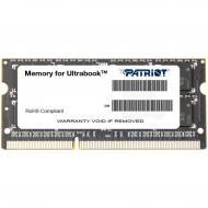 Оперативная память SO-DIMM DDR3 8 Gb 1600 МГц Patriot (PSD38G1600L2S)