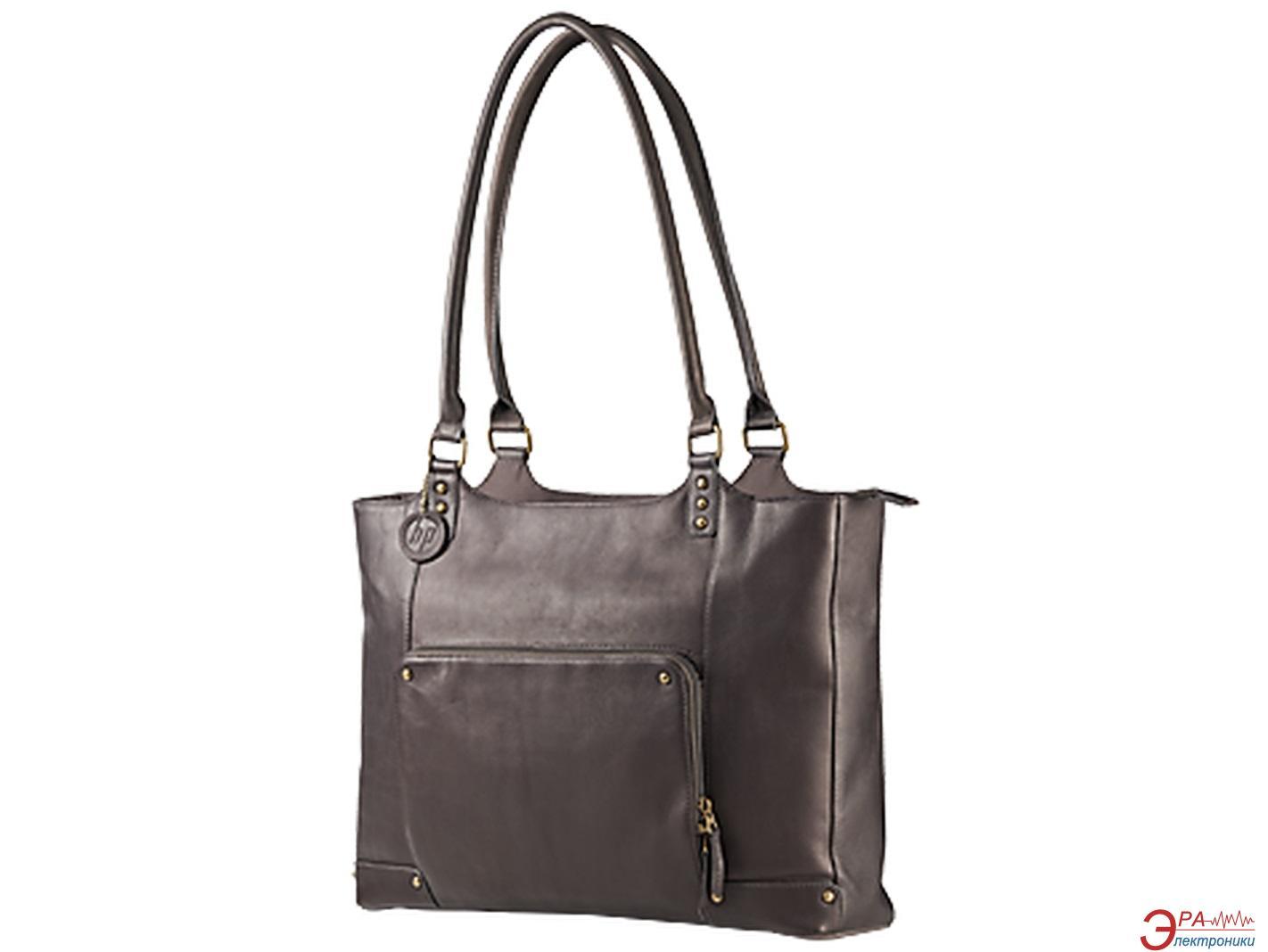 Сумка для ноутбука HP Ladies Brown Leather Tote (F3W12AA)
