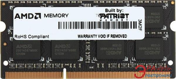 Оперативная память SO-DIMM DDR3 8 Gb 1600 МГц AMD (R538G1601S2S-UGOBULK)