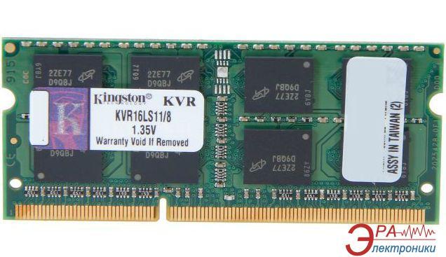 Оперативная память SO-DIMM DDR3L 8 Gb 1600 МГц Kingston (KVR16LS11/8)