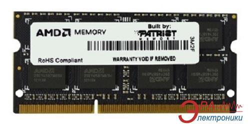 Оперативная память SO-DIMM DDR3 4 Gb 1333 МГц Patriot AMD (R334G1339S1S-UOBULK)