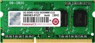 Оперативная память SO-DIMM DDR3 2 Gb 1333 МГц Transcend Original (TS256MSK64V3N)