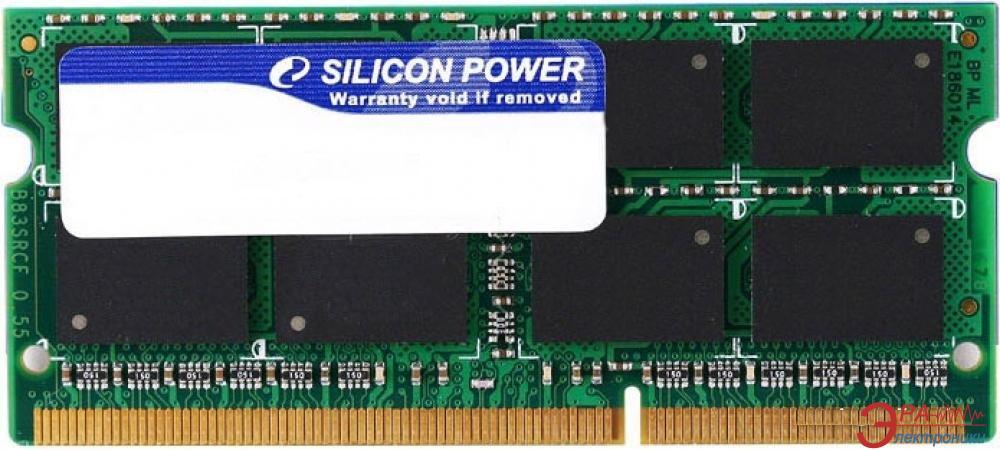 Оперативная память SO-DIMM DDR3 4 Gb 1333 МГц Silicon Power (SP004GBSTU133N02)